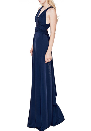 MAY: Maxi Convertible Dress in Midnight Blue