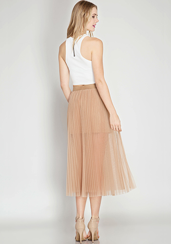 April: Believe in Fairy Tales Tulle Skirt in Toffee