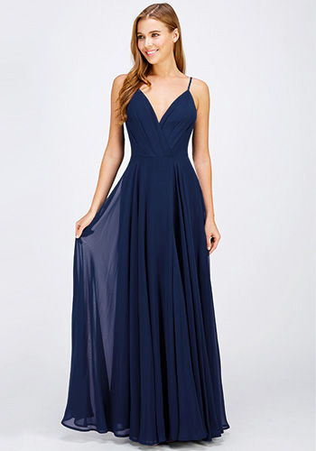To the Moon and Back Maxi Dress in Navy