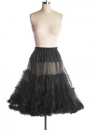 Volume Up Crinoline in Black
