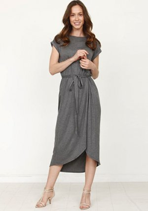 Casual Mondays Dress in Charcoal