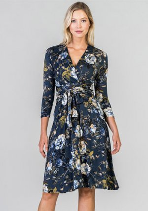 Catherine Dress in Blue Floral