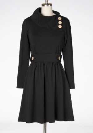 Sunday Brunch Dress in Black
