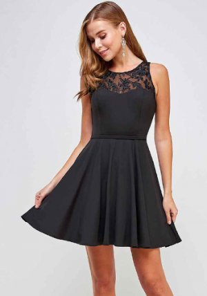 Gift Registry Dress in Black
