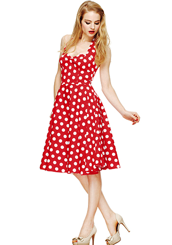 Ice Cream Parlour Dress in Red - Click Image to Close
