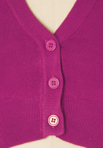 Sugar Drop Crop Cardi in Magenta