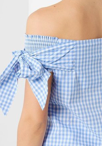 May: Summer Breeze Cotton Top in Gingham