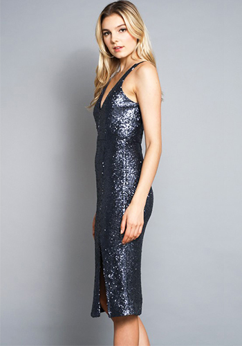Socialite Sequin Dress in Midnight - Click Image to Close