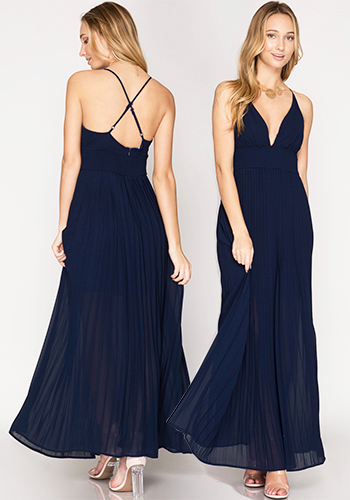 JULY: Party Maxi Dress in Navy