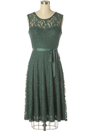 PRE-ORDER: Royal Visitor Dress in Forest Green