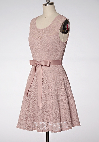 Perfect Melody Dress in Vintage Rose - Click Image to Close