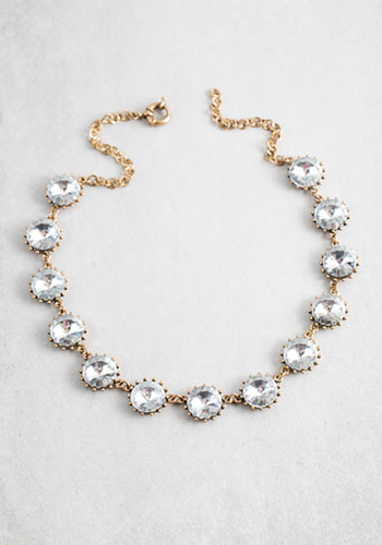 Necklace: Shooting Stars Clear - Click Image to Close