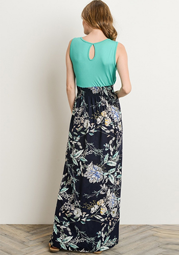 PRE-ORDER: Wishing Well Twofer Maxi Dress in Turquoise