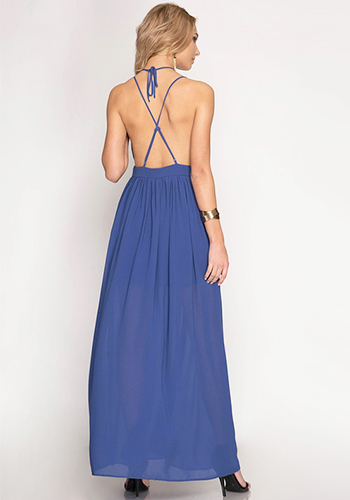 Ex-girlfriend Maxi Dress in Blue - Click Image to Close