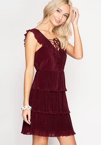 Modern Gatsby Dress In Burgundy 45 47 Women S Vintage