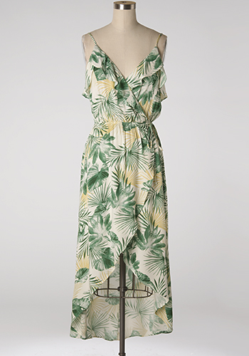 Swaying Palm Trees Dress - Click Image to Close