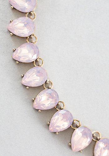 Necklace: Rain Drops Pink