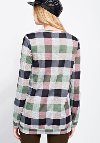 Campus Cafe Sweater in Green/Pink