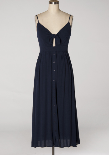 MID JULY: How Delightful Midi Dress in Navy