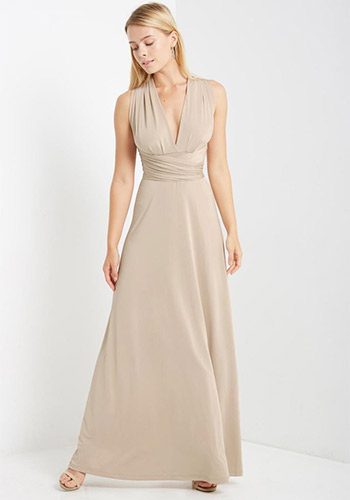 Maxi Convertible Dress in Beige - Click Image to Close