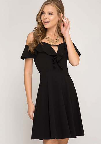 Raise Your Glass Dress in Black