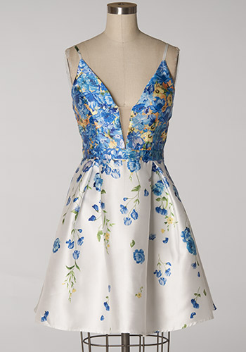 Monet Gallery Dress in Blue