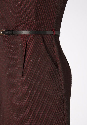 Bosslady Dress in Wine - Click Image to Close