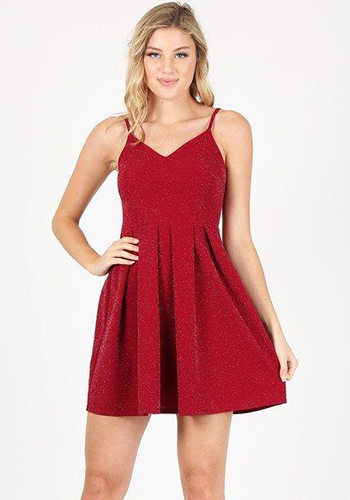 Sleigh Bell Dress in Red