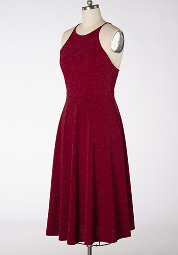 Wonderful Time Midi Dress in Red
