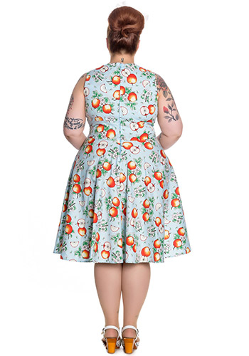 Honeycrisp Dress in Blue - Click Image to Close