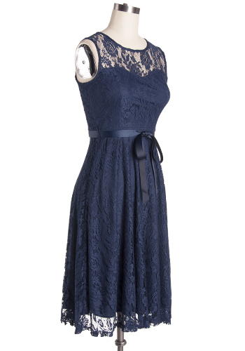 PRE-ORDER: Royal Visitor Dress in Midnight Blue - Plus