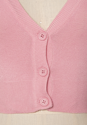 Sugar Drop Crop Cardi in Light Pink - Click Image to Close