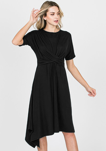 Leading Role Asymmetrical Dress in Black