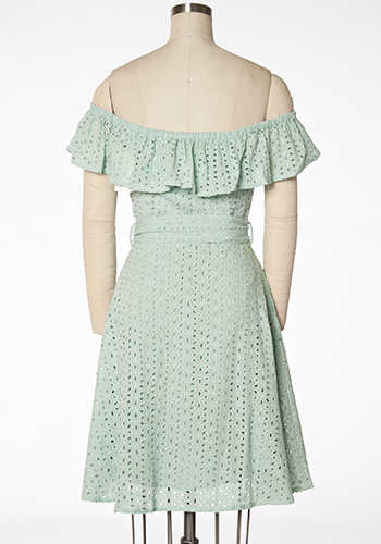I Was Mint For You Off-Shoulder Dress