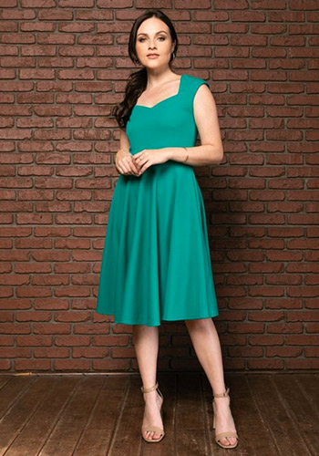 Real Sweetheart Dress in Emerald - Click Image to Close