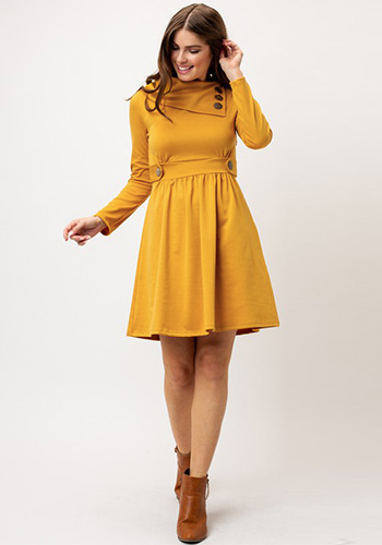Sunday Brunch Dress in Mango - Click Image to Close