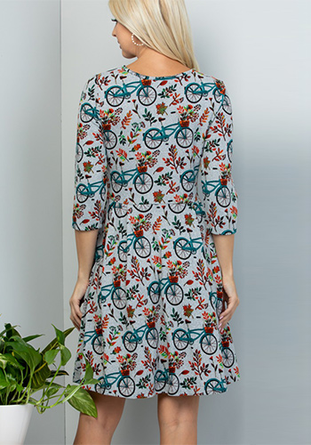 Bicycle For Two Sweater Dress