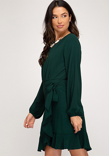 Poetic Justice Dress in Green