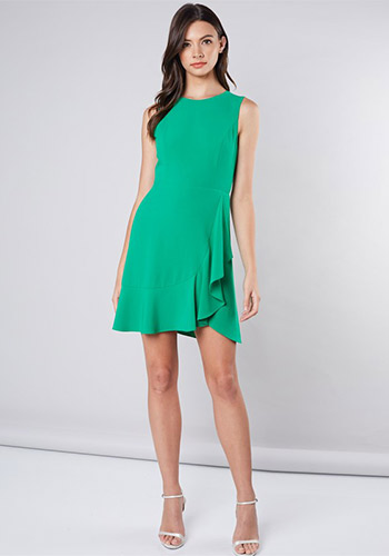 Grown Up Punch Dress in Lime - Click Image to Close