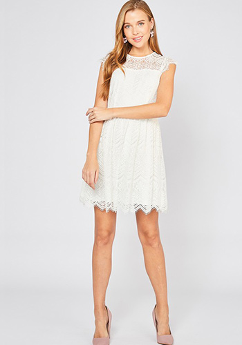 Dinner Cruise Dress in White - Click Image to Close