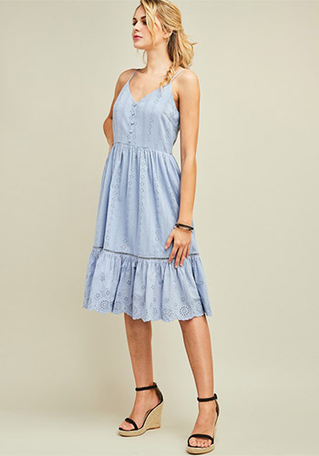 My Fine Lady Eyelet Dress - Click Image to Close