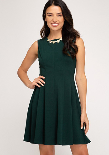 PRE-ORDER JANUARY: Simple Intentions Dress in Green
