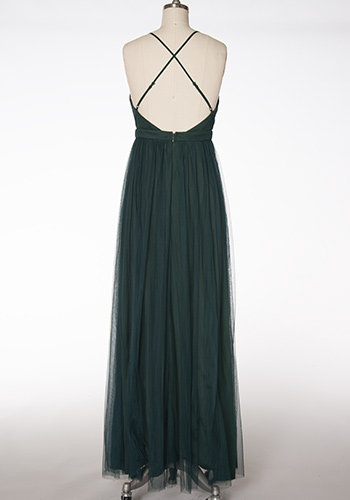Sasha Tulle Maxi Dress in Black - Click Image to Close