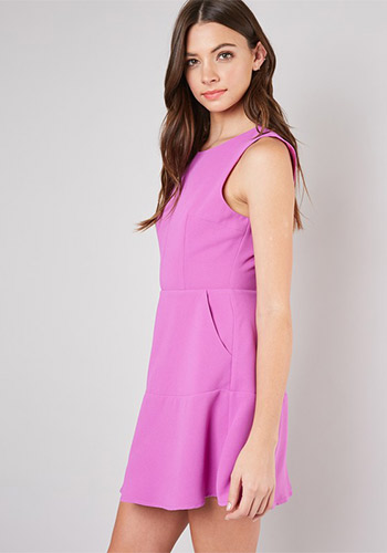 Grown Up Punch Dress in Orchid - Click Image to Close