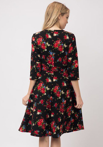 Chelsea Garden Dress in Black