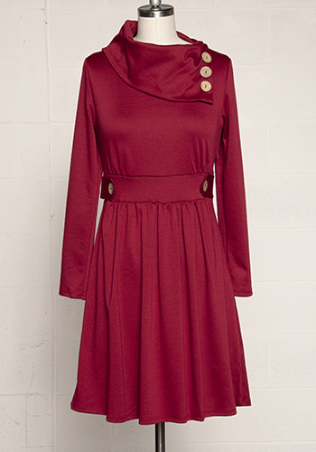 Sunday Brunch Dress in Ruby - Click Image to Close