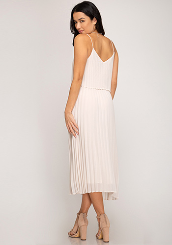 Afternoon Party Midi Dress in Almond - Click Image to Close