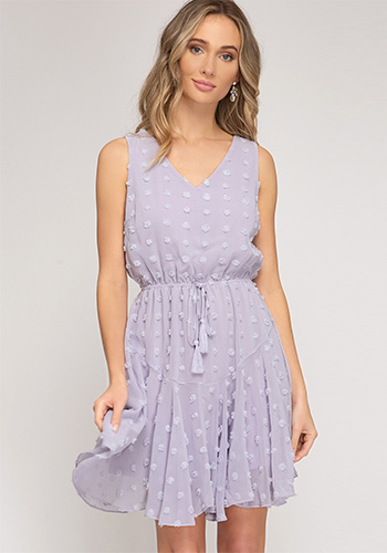 Macaron Dress in Lilac Gray - Click Image to Close
