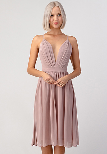 Sophia Dress in Mauve