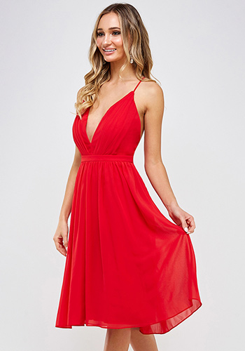 Sophia Dress in Red - Click Image to Close